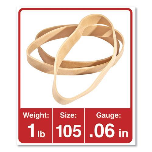"Rubber Bands, Size 105, 0.06"" Gauge, Beige, 1 lb Box, 55/Pack. Picture 3"