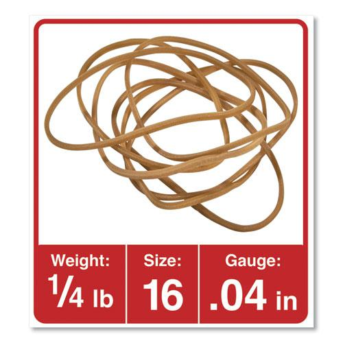 "Rubber Bands, Size 16, 0.04"" Gauge, Beige, 4 oz Box, 475/Pack. Picture 2"