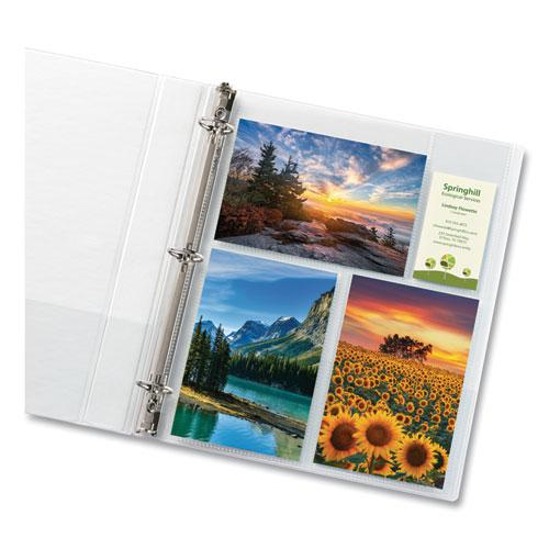 Photo Storage Pages for Six 4 x 6 Mixed Format Photos, 3-Hole Punched, 10/Pack. Picture 2