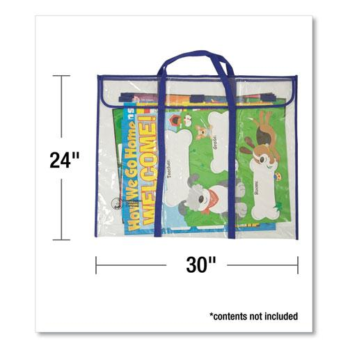 "Bulletin Board Storage Bag, Blue/Clear, 30"" x 24"". Picture 2"