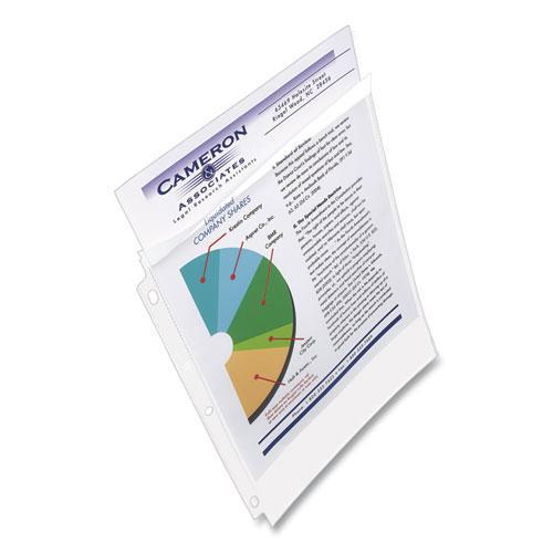 Secure Top Sheet Protectors, Super Heavy Gauge, Letter, Diamond Clear, 25/Pack. Picture 7