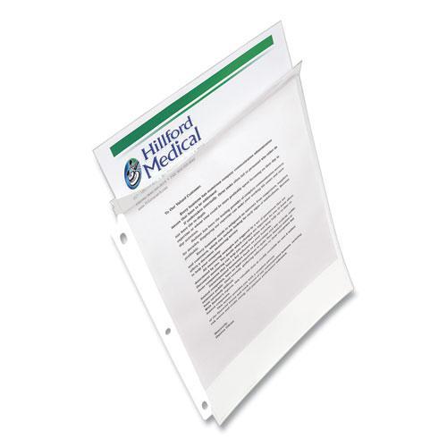 Secure Top Sheet Protectors, Super Heavy Gauge, Letter, Diamond Clear, 25/Pack. Picture 3