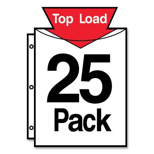 Secure Top Sheet Protectors, Super Heavy Gauge, Letter, Diamond Clear, 25/Pack. Picture 2