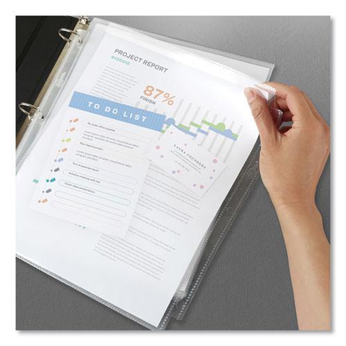 Secure Top Sheet Protectors, Super Heavy Gauge, Letter, Diamond Clear, 25/Pack. Picture 4