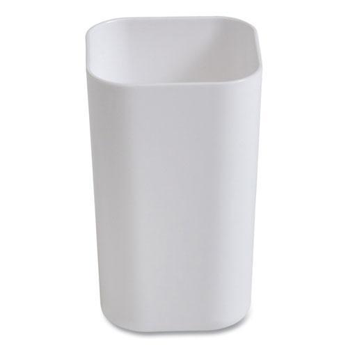 Plastic Pencil Cup, 2.61 x 2.61 x 4.3, White. Picture 1