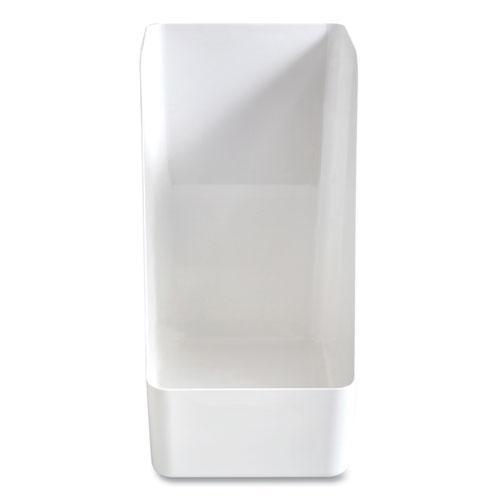 Plastic Magazine File, 6.73 x 10.47 x 11.7, White. Picture 1