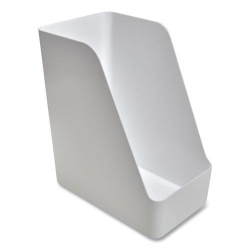 Plastic Magazine File, 6.73 x 10.47 x 11.7, White. Picture 3