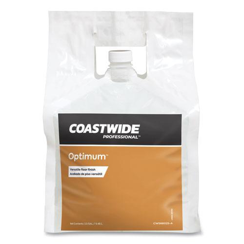 Optimum Floor Finish, Unscented, 2.5 gal Bag, 2/Carton. Picture 1