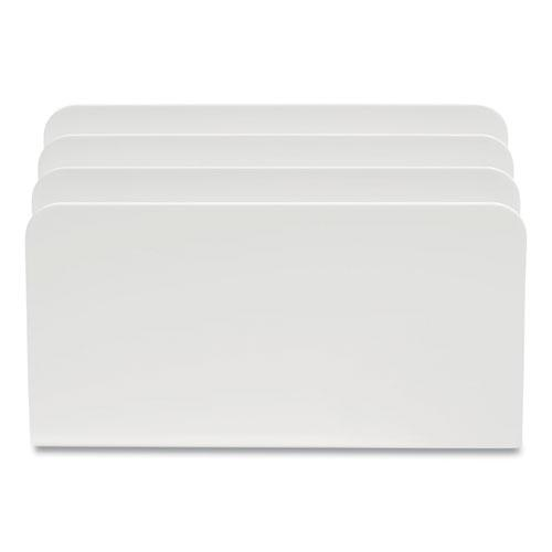 Plastic Incline Mail Sorter, 3 Sections, #6 1/4 to #16 Envelopes, 3.87 x 9.51 x 6.06, White. Picture 1