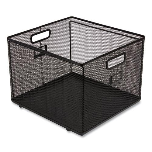 "Wire Mesh File Organizer, Letter Size, 13.98"" Long, Black. Picture 3"
