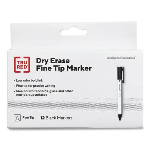 Pen Style Dry Erase Marker, Fine Bullet Tip, Black, 36/Pack. Picture 1
