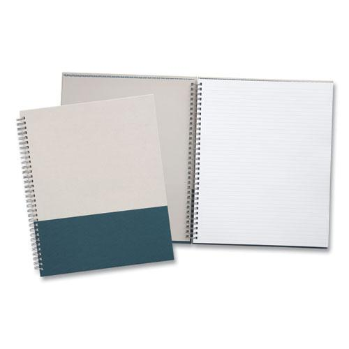 Wirebound Hardcover Notebook, 1 Subject, Narrow Rule, Gray/Teal Cover, 11 x 8.5, 80 Sheets. Picture 2