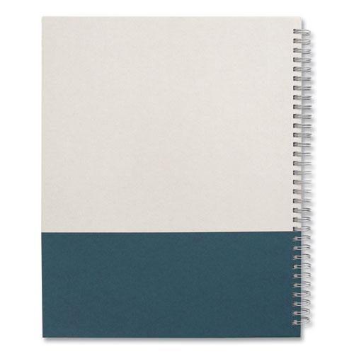 Wirebound Hardcover Notebook, 1 Subject, Narrow Rule, Gray/Teal Cover, 11 x 8.5, 80 Sheets. Picture 3
