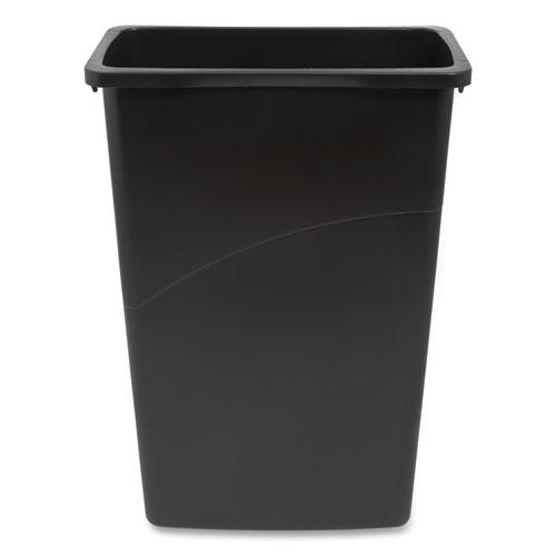 Slim Open Top Trash Can, Plastic, 23 gal, Black. Picture 2