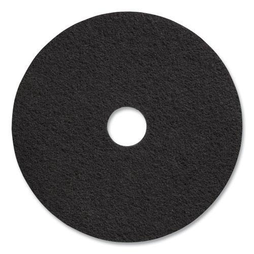 "Stripping Floor Pads, 17"" Diameter, Black, 5/Carton. Picture 1"