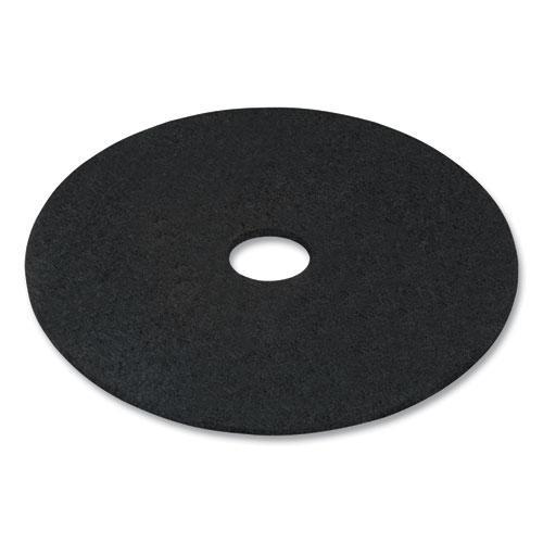 "Stripping Floor Pads, 17"" Diameter, Black, 5/Carton. Picture 3"