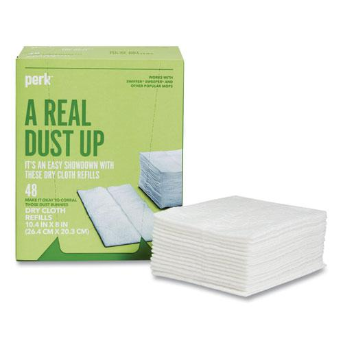 Dry Cloth Refills, White, 8 x 10.4, 48/Pack. Picture 1