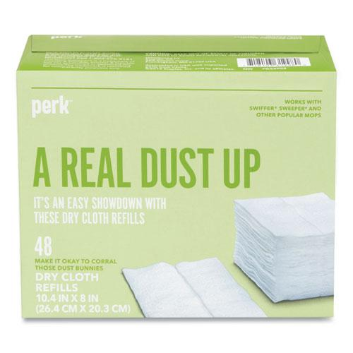Dry Cloth Refills, White, 8 x 10.4, 48/Pack. Picture 2