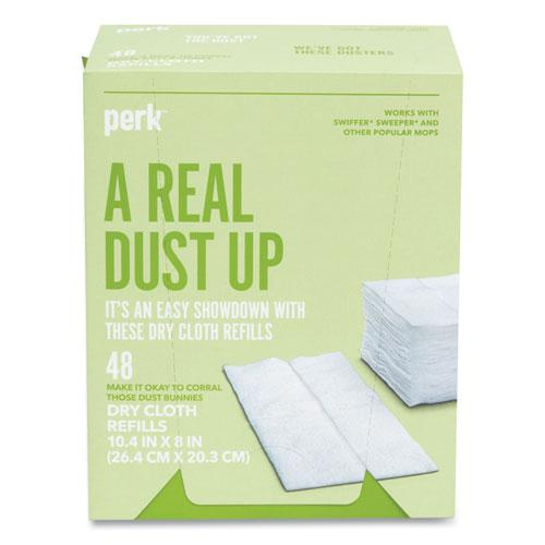 Dry Cloth Refills, White, 8 x 10.4, 48/Pack. Picture 3