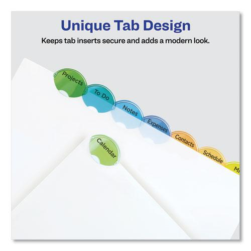 Insertable Style Edge Tab Plastic Dividers, 8-Tab, 11 x 8.5, Translucent, 1 Set. Picture 7