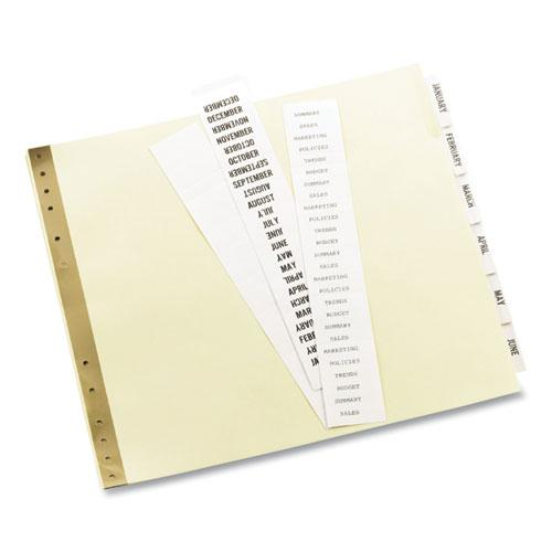 Insertable Clear Tab Dividers for Data Binders, 6-Tab, 11 x 9 1/2. Picture 4