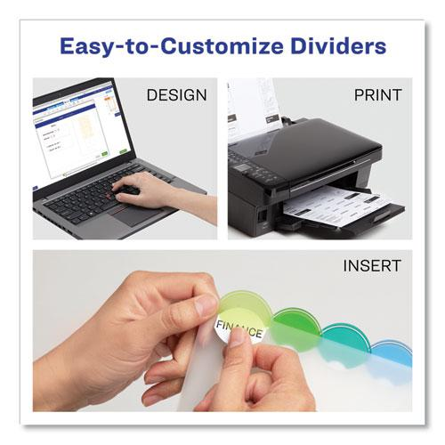 Insertable Style Edge Tab Plastic Dividers, 8-Tab, 11 x 8.5, Translucent, 1 Set. Picture 2