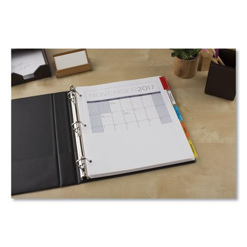 Insertable Dividers w/Single Pockets, 5-Tab, 11 1/4 x 9 1/8. Picture 6