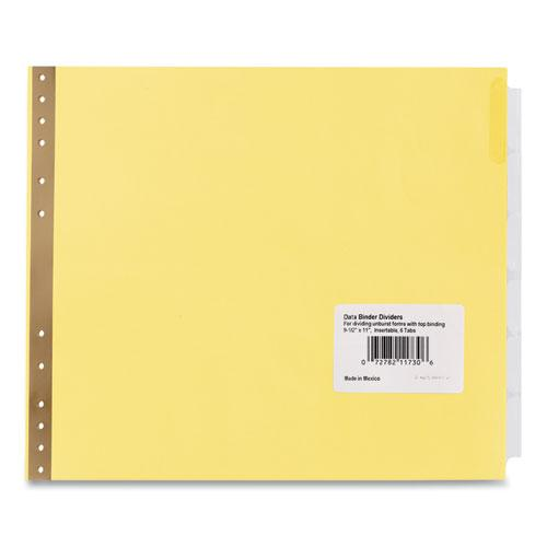 Insertable Clear Tab Dividers for Data Binders, 6-Tab, 11 x 9 1/2. Picture 1