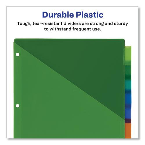Insertable Big Tab Plastic 2-Pocket Dividers, 8-Tab, 11.13 x 9.25, Assorted, 1 Set. Picture 4