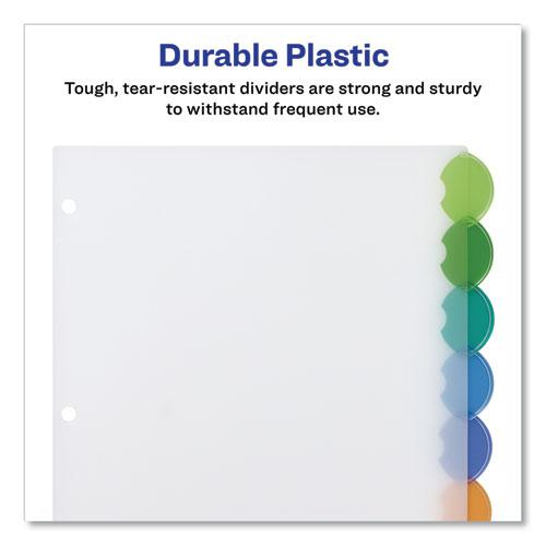 Insertable Style Edge Tab Plastic Dividers, 8-Tab, 11 x 8.5, Translucent, 1 Set. Picture 5