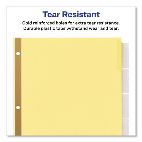 Insertable Standard Tab Dividers, 5-Tab, 8.5 x 5 1/2. Picture 5