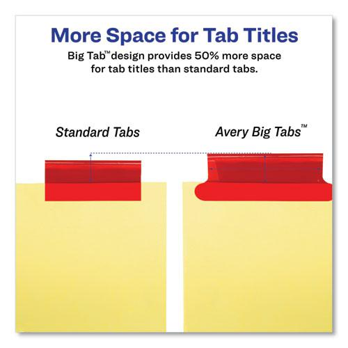 Insertable Big Tab Dividers, 8-Tab, Letter. Picture 3