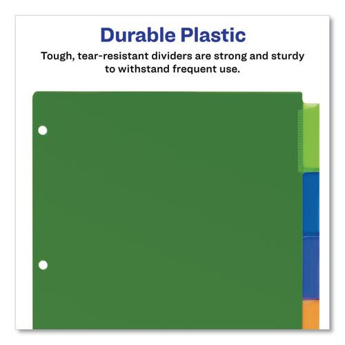 Insertable Big Tab Plastic Dividers, 5-Tab, 11 x 8.5, Assorted, 1 Set. Picture 4