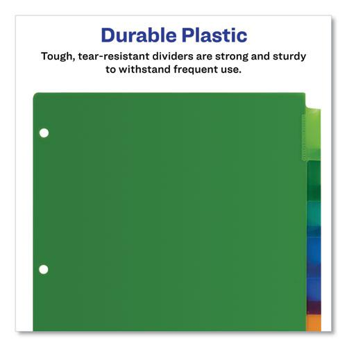 Insertable Big Tab Plastic Dividers, 8-Tab, 11 x 8.5, Assorted, 1 Set. Picture 3