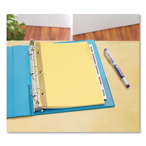 Insertable Standard Tab Dividers, 5-Tab, 8.5 x 5 1/2. Picture 3