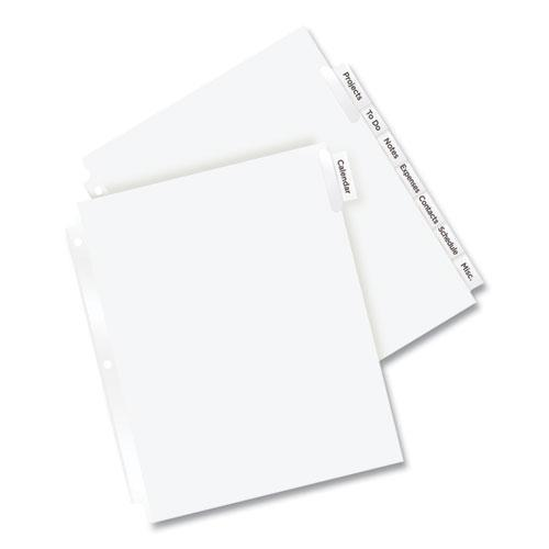 Insertable Big Tab Dividers, 8-Tab, 11 1/8 x 9 1/4. Picture 4