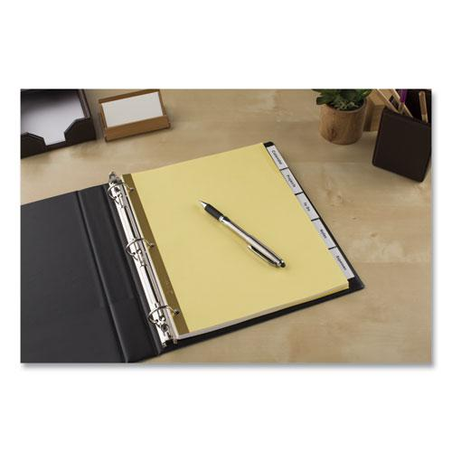 Insertable Big Tab Dividers, 5-Tab, Letter. Picture 5