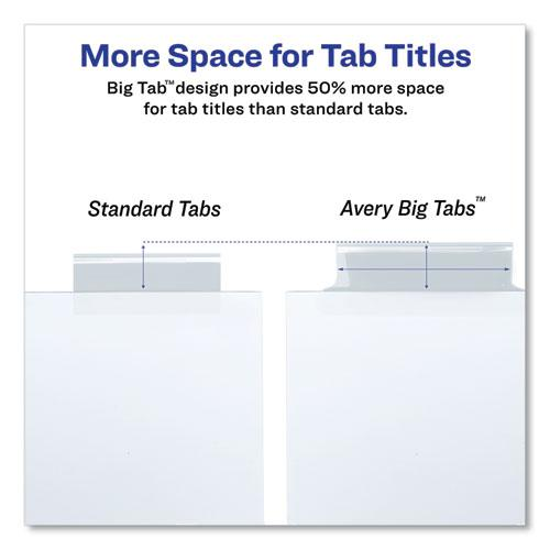 Insertable Big Tab Dividers, 8-Tab, Letter. Picture 6