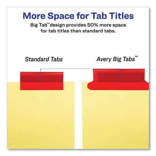 Insertable Big Tab Dividers, 8-Tab, Letter. Picture 4