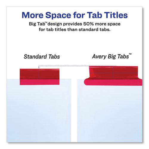 Insertable Big Tab Dividers, 8-Tab, 11 1/8 x 9 1/4. Picture 2