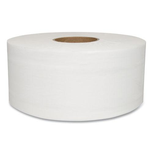 Jumbo Bath Tissue, Septic Safe, 2-Ply, White, 750 ft, 12 Rolls/Carton. Picture 1