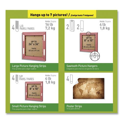 Picture Hanging Kit, Assorted Sizes, 24 Pieces/Pack. Picture 3
