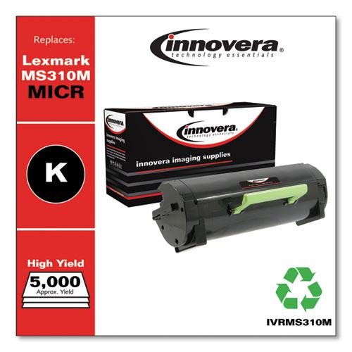 Remanufactured Black High-Yield MICR Toner, Replacement for Lexmark MS310M (50F0HA0), 5,000 Page-Yield. Picture 2
