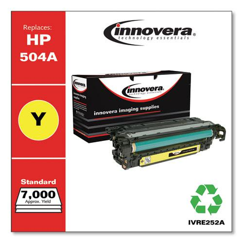 Remanufactured Yellow Toner, Replacement for HP 504A (CE252A), 7,000 Page-Yield. Picture 2