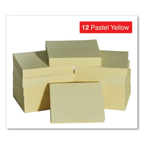 Self-Stick Note Pads, 1 1/2 x 2, Yellow, 12 100-Sheet/Pack. Picture 2
