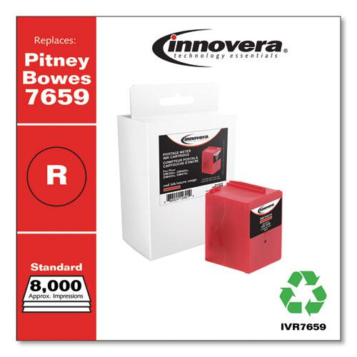 Compatible Red Postage Meter Ink, Replacement for Pitney Bowes 765-9 (7659), 8,000 Page-Yield. Picture 1