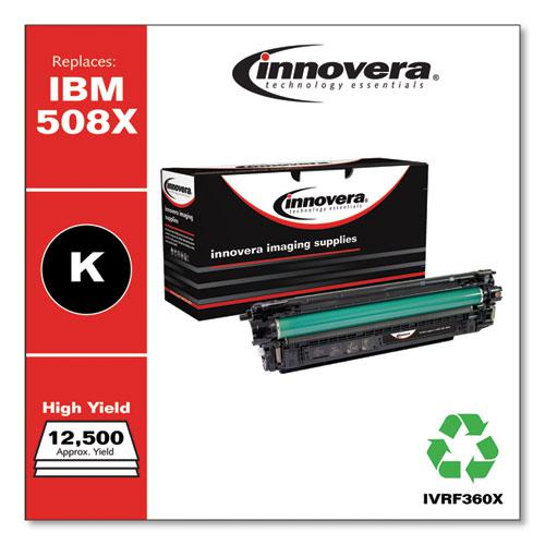Remanufactured Black High-Yield Toner, Replacement for HP 508X (CF360X), 12,500 Page-Yield. Picture 2