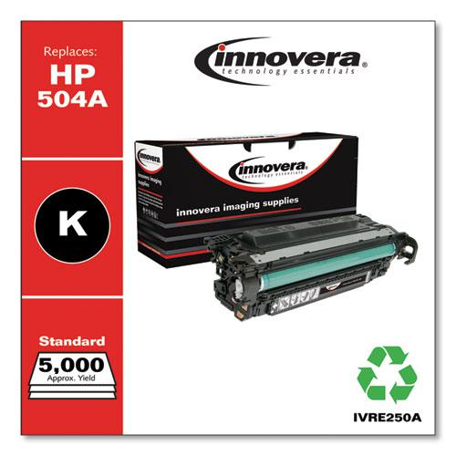 Remanufactured Black Toner, Replacement for HP 504A (CE250A), 5,000 Page-Yield. Picture 2