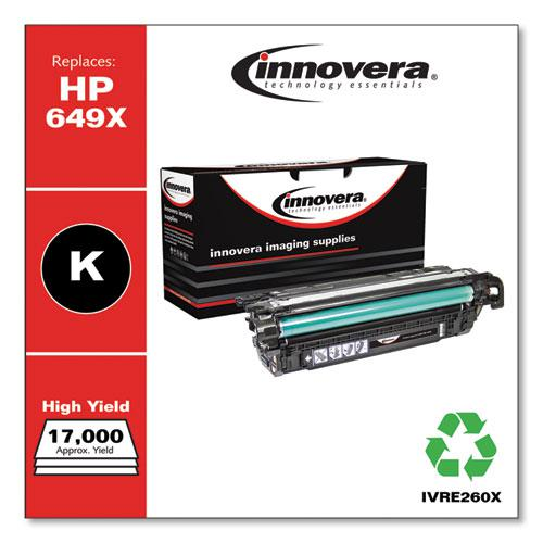 Remanufactured Black High-Yield Toner, Replacement for HP 649X (CE260X), 17,000 Page-Yield. Picture 2