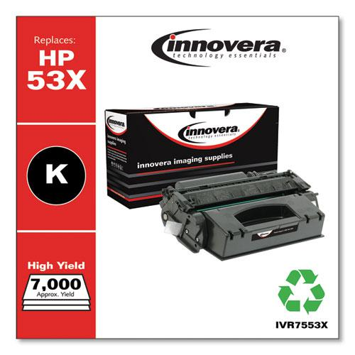 Remanufactured Black High-Yield Toner, Replacement for HP 53X (Q7553X), 7,000 Page-Yield. Picture 1
